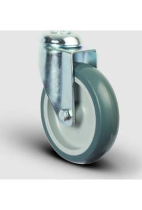 Oynak Delik Bağlantılı, Burçlu, Termoplastik Kauçuk Hafif Sanayi Tekerleği Çap:150 - Er04 Mkt 150
