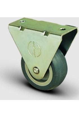 Sabit Tabla Bağlantılı, Burçlu, Termoplastik Kauçuk Hafif Sanayi Tekerleği Çap:50 - Ep02 Mkt 50