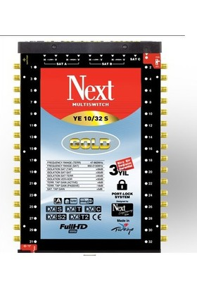 Next YE-10/32 Sonlu Multiswitch + Adaptör
