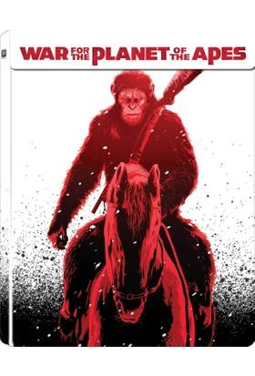 War For The Planet Of The Apes - Maymunlar Cehennemi Savaş Steelbook 3D+2D Blu Ray Dısc