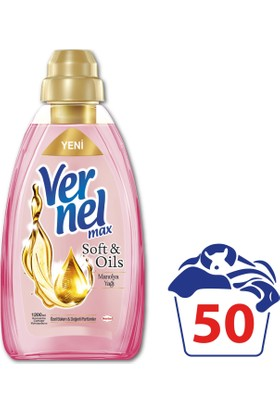 Vernel Max Soft&Oils Manolya Konsantre Çamaşır Yumuşatıcısı 1200 ml