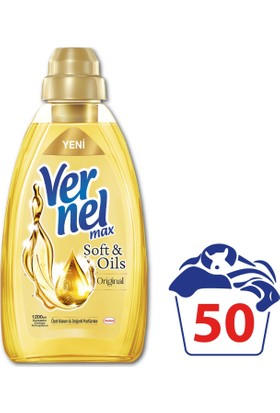 Vernel Max Soft&Oils Orjinal Konsantre Çamaşır Yumuşatıcısı 1200 ml