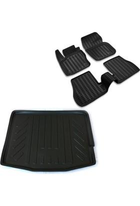 Ford Focus 3 HB 3D Havuzlu Paspas ve Düşük Zemin Bagaj Havuzu