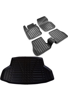 Honda Civic Siyah 3D Havuzlu Paspas ve Bagaj Havuzu 2016 ve Üzeri