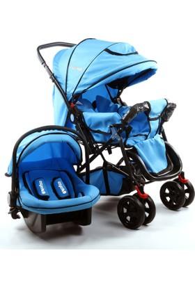 Asyamo Keeper Seyahat Sistem Bebek Arabası / Mavi