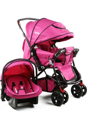 Asyamo Keeper Seyahat Sistem Bebek Arabası / Pembe