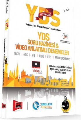 Yargı Yayınları Yds Altın Seri Soru Hazinesi Ve Video Anlatımlı Denemeler 2. Baskı