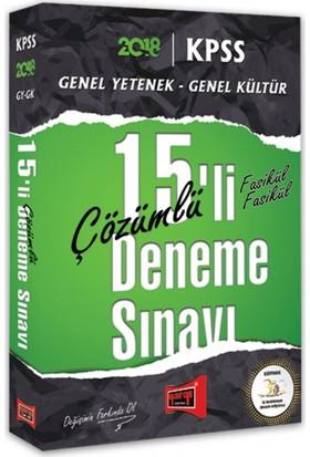 Yargı Yayınları 2018 Kpss Genel Yetenek Genel Kültür 15'Li Fasikül Fasikül Çözümlü Deneme Sınavı
