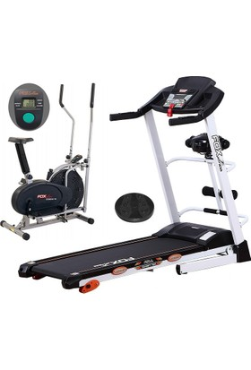 Fox Fitness New Target 70 E 2,5 HP Motorlu Masajlı Koşu Bandı + Fox Fitness Orbitrack 100 Eliptik Bisiklet + Twister - Spor Seti
