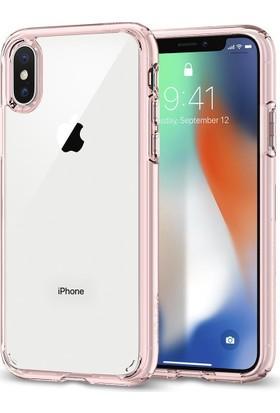 Spigen Apple iPhone X Kılıf Ultra Hybrid Rose Crystal - 057CS22128