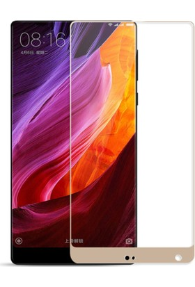 Case 4U Xiaomi Mi Mix 3D Kavisli Temperli Cam Ekran Koruyucu Film Altın
