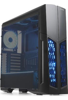 Dark Spartan 700W 80+ 5 Fanlı 3xRGB Ledli Akrilik Yan Panel ATX Oyuncu Kasası (DKCHSPARTAN700)