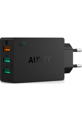 Aukey 3Port 42W Qualcomm 3.0 Duvar Şarjı ve 1mt Micro USB