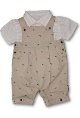 Monna Rosa Gömlekli Salopet 2'li Erkek Bebek Takım