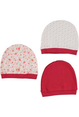 Bebetto Penye 3'lü Kız Bebek Şapka - Kırmızı