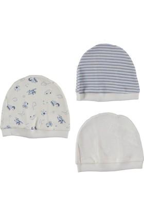 Bebetto Penye 3'lü Erkek Bebek Şapka - Ekru