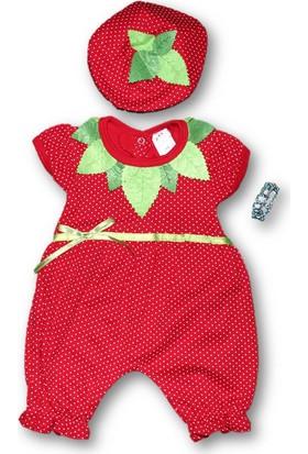 Biricik's Çilek Penye 2'li Kız Bebek Tulum