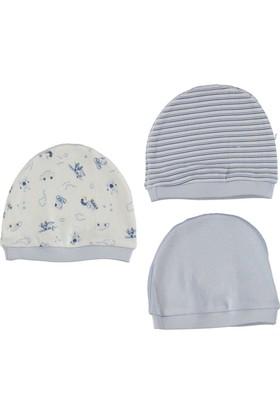 Bebetto Penye 3'lü Erkek Bebek Şapka - Mavi