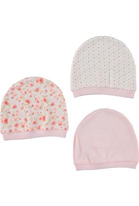 Bebetto Penye 3'lü Kız Bebek Şapka - Pembe