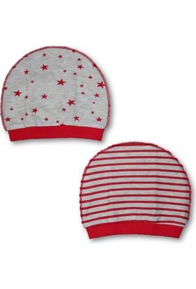 Bebetto Penye 2'li Erkek Bebek Şapka - Kırmızı