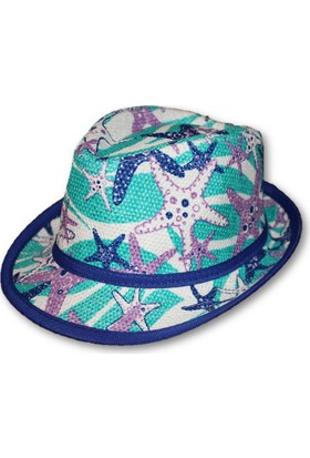 Monna Rosa Desenli Çocuk Şapka - Lacivert
