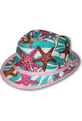 Monna Rosa Desenli Çocuk Şapka - Pembe