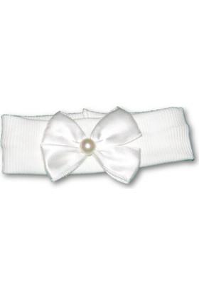 Biricik's Fiyonklu Kız Çocuk Saç Bandı - Beyaz