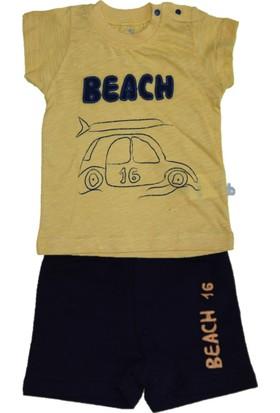 Bibaby Beach 2'li Erkek Bebek Şortlu Takım