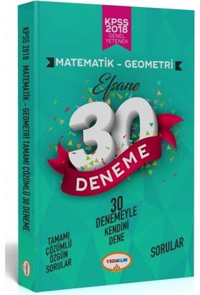 Yediiklim Yayınları 2018 Kpss Matematik Tamamı Çözümlü Efsane 30 Deneme