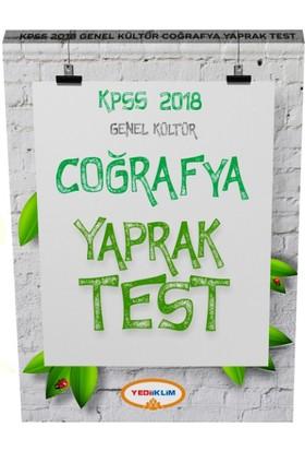 2018 Kpss Genel Kültür Coğrafya Çek Kopart Yaprak Test