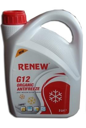 Renew G12 Organik Kırmızı Antifiriz -40C 3 Litre