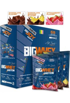 Bigjoy Bigwhey Mix-2 (Çikolata-Çikolata&Muz-Çilek)68 Servis