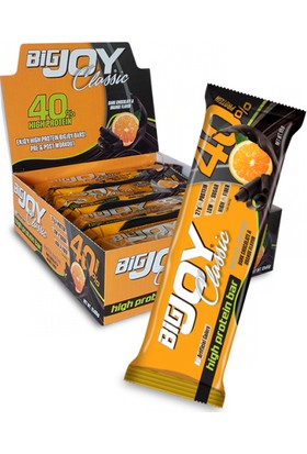 Bigjoy Classic Orange & Dark Chocolate Protein Bar 65 g x 12 Adet