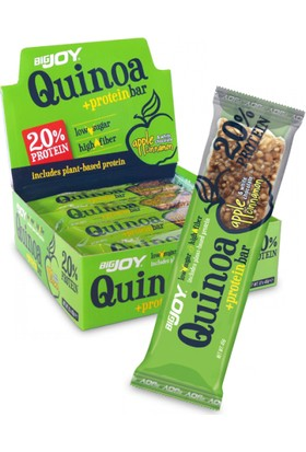 Bigjoy Quinoa Protein Bar Apple Cinnamon White Cho.45 g x 12 Adet