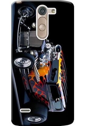Kılıf Merkezi LG G3 Stylus Kılıf Silikon Baskılı Hot Rod Dog STK:295