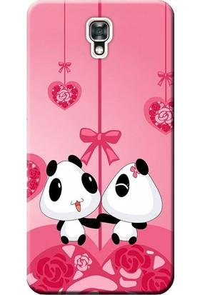 Kılıf Merkezi LG X Screen Kılıf K500N Silikon Baskılı Pandalar STK:166