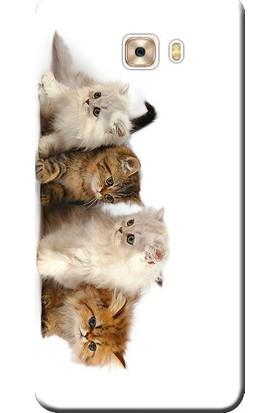 Kılıf Merkezi Samsung Galaxy J7 Max Kılıf G615 Silikon Baskılı Yavru Kediler STK:195