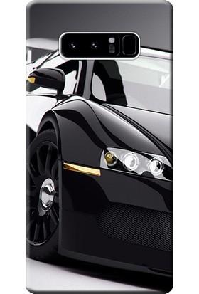 Kılıf Merkezi Samsung Galaxy Note 8 Kılıf Silikon Baskılı Bugatti Veyron STK:291