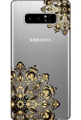 Kılıf Merkezi Samsung Galaxy Note 8 Kılıf Silikon Baskılı Tasarım STK:323
