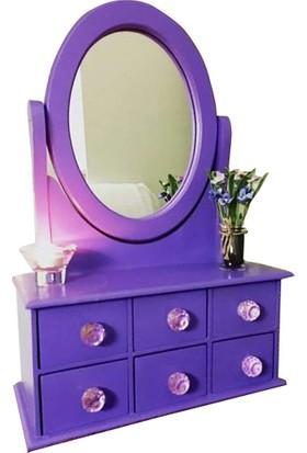Çekmeceli Oval Aynalı Takı ve Makyaj Kutusu