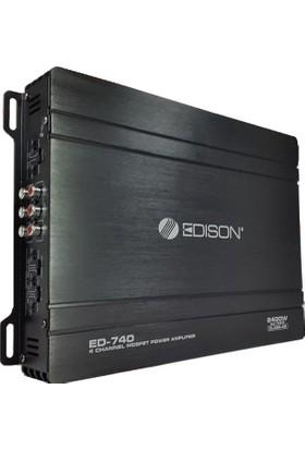 Edison Ed-740 2400 Watt 4 Kanallı Oto Amplifakitör