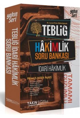 Yakın Eğitim Yayınları Tebliğ İdari Hakimlik Tamamı Çözümlü Soru Bankası