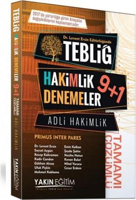 Adli Hakimlik Tebliğ 9+1 Tamamı Çözümlü Denemeler Yakın Eğitim Yayınları