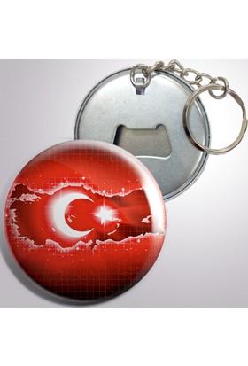 Açacaklı Buzdolabı Magneti Türk Bayrağı Modelleri 10 adet