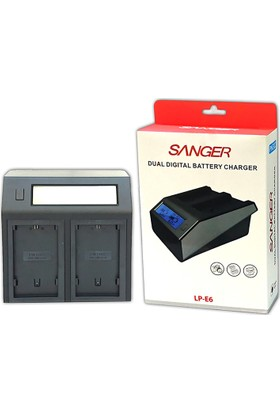 Sanger Canon LP-E6 İkili Dijital Sanger