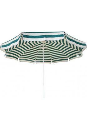 Modatools Plaj Şemsiyesi Lüks Bez Çizgili 11030