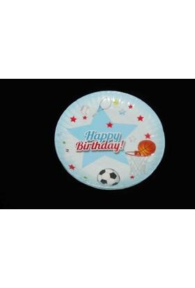 Modatools Karton Tabak 18 Cm 6 Lı Happy Birthday Erkek 11988