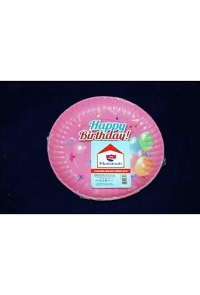 Modatools Karton Tabak 18 Cm 6 Lı Happy Birthday Kız 11830