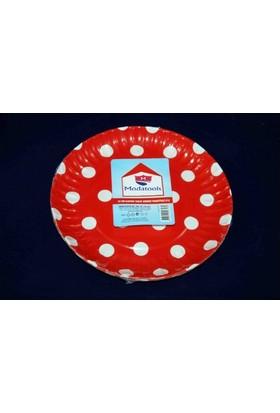 Modatools Karton Tabak 18 Cm 6 Lı Kırmızı Puantiyeli 11829