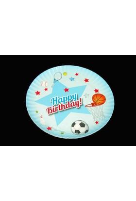 Modatools Karton Tabak 23 Cm 6 Lı Happy Birthday Erkek 11990